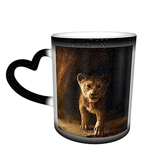 Simba Lion King - Tazas de té de cerámica con diseño de rey león