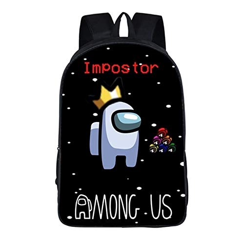 Zzlush Among Us Backpack Bags Backpack Mens Laptop Backpack Rucksack School Bags, New Among Us Game Surrounding Children's Schoolbag Polyester Large-capacity Student Backpack Lightening Backpack