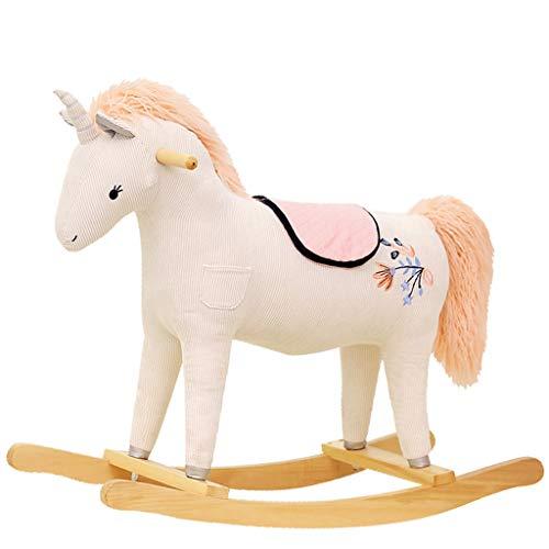 The Rocking Horse Co Neuf Peluche Agneau Chaise /à Bascule de avec /Écharpe en Bois Rockers avec Poign/ées en Bois