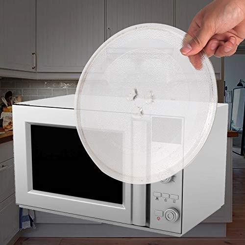 DHOUTDOORS Mikrowellenteller Rund Glasteller Drehteller Ersatz Teller Glasteller für Mikrowelle 245 mm