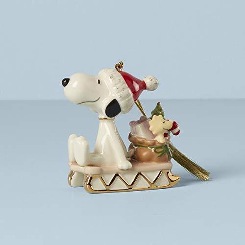 Lenox 2021 Snoopy Sledding Into The Holidays Ornament, 0.50...