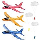 Toyvian 3Pcs Planos de Espuma Avion Planeador Juguete+3Pcs Juguete de...