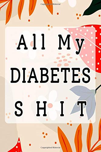 """Diabetes Monitor Diary: Daily Glucose Log Book The Perfect Gift Idea For Diabetics One Year Logbook Size 6 X 9\"""" ~ Medicines - Men # Type ~ Glossy Cover Design White Paper Sheet 108 Pages Good Prints."""