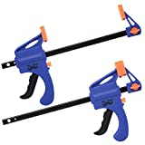 Mr. Pen- Clamps, Grip Clamp 4 Inch, 2 Pack, Light Duty, Clamps for Woodworking, Wood Clamps, Woodworking Tools, C Clamp, Woodworking Clamps, Wood Working Tools, Bar Clamp, Wood Working, Wood Tools