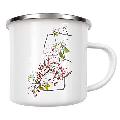 artboxONE Emaille Tasse Pfaffenhut von Tan Kadam - Emaille Becher Floral