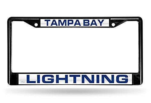 NHL Rico Industries Laser Cut Inlaid Standard Chrome License Plate Frame, Tampa Bay Lightning