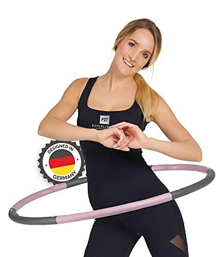 FITCELLENCE Hula Hoop - Pneumatico per adulti, progettato in Germania, per il fitness con peso per casa e in viaggio, con istruzioni per il tuo allenamento (lingua italiana non garantita)