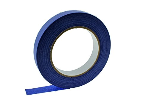 """3pk 1/4 1/2 3/4"""" in x 60 yd Blue Painters Tape Medium High Tack Sticky Paper Masking Tape Edging Small Projects Fine Trim Detailing Multi Surface Clean Release 21 Day Easy Removal No Residue 6MM-18MM"""
