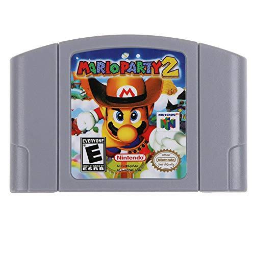 for N64 Mario Party 2 Video Game Cartridge Consoles Card - US Version