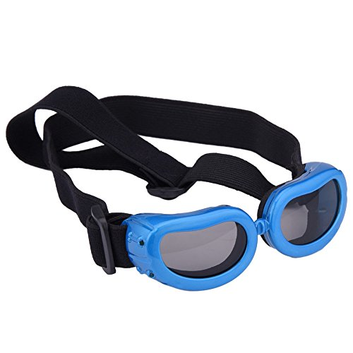 Outdoor Dog Sunglasses Anti-UV Eye Protection Goggles Waterproof Windproof Anti-Fog for Small Pet...
