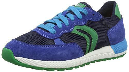 Geox Jungen J ALBEN Boy D Sneaker, Blau (Royal/Green C4165), 28 EU