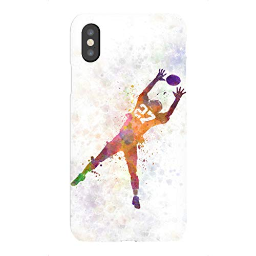 artboxONE Premium-Case Handyhülle für Apple iPhone XS American Football Man Receiving von Paul Rommer