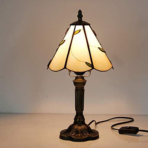 Tiffany-Stil Tischlampen, Glaslampenschirm für die Schlafzimmer Nachttischlampe,B