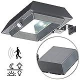 Lunartec Dachrinnenleuchte: 2in1-Solar-LED-Dachrinnen- & Wandleuchte, PIR-Sensor, 300 lm, schwarz (Dachrinnenlampen)
