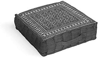 Cojín tapizado de algodón 40 x 40 x 8 cm Lima Gris