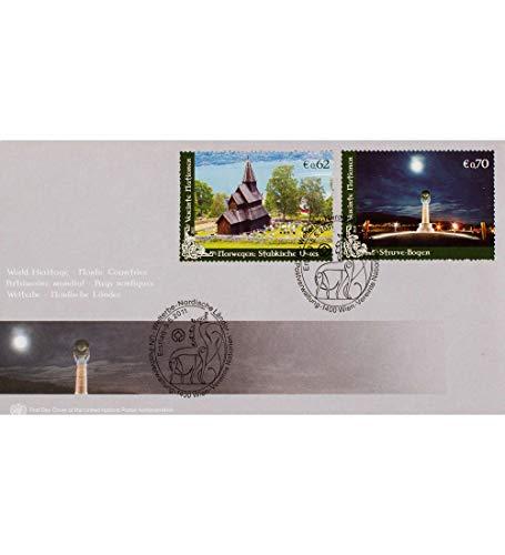 Goldhahn UNO Wien Nr. 817-718 FDC Ersttagsbrief UNESCO Welterbe Stabkirche/Struve-Bogen l Briefmarken für Sammler