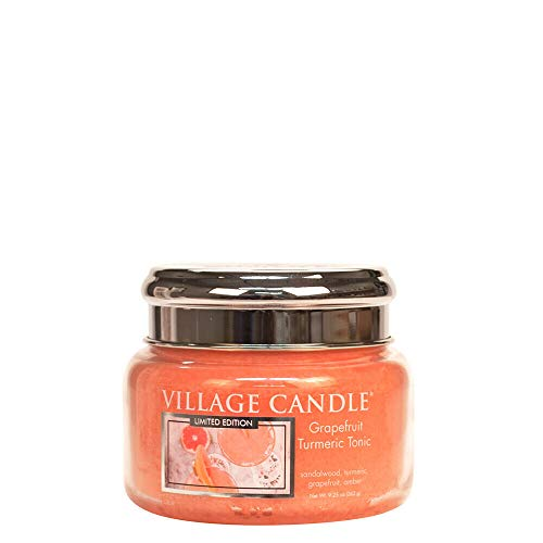 Home Deco 11oz Double Wick Small Jar Candle (GRAPEFRUIT TUMERIC TONIC)