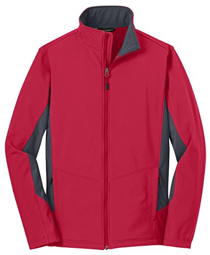 Port Authority® Core Colorblock Soft Shell Jacket. J318 Rich Red/ Battleship