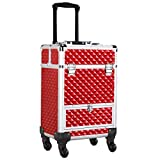 Best AW Airbrush Makeup Kits - Yaheetech Rolling Makeup Case Professional Lock Train Case Review