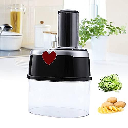 Cortador eléctrico de verduras, frutas, alimentos, cortador rápido, rallador de cocina, herramienta de 2 L para cebolla, ajo, verduras, frutas, cebolla, mini cortador de verduras