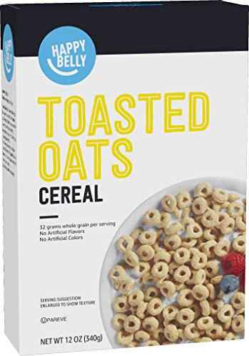 Amazon Brand  Happy Belly Toasted Oats Cereal 12 Ounce
