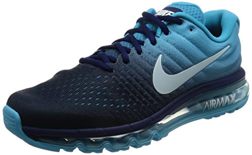 Nike Air Max 2017, Scarpe da Corsa Uomo, Turchese (Binary Blue/Glacier Blue/Chlorine Blue), 43 EU