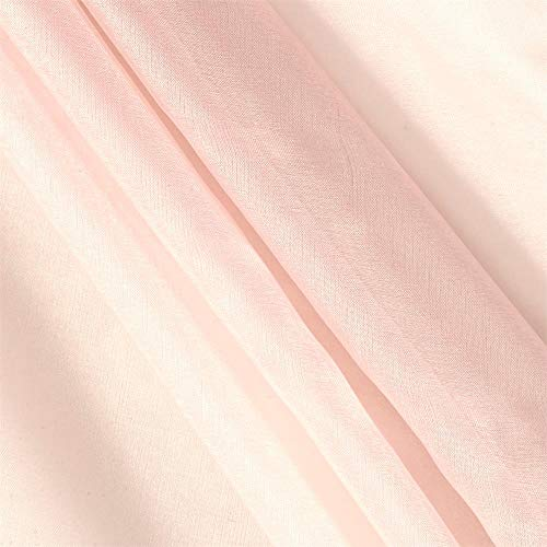 TELIO Silk Organza Fabric by The Yard, Whisper Pink