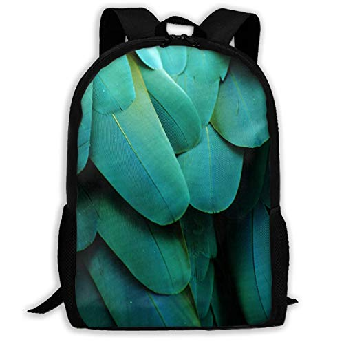 TRFashion Mochila Backpack For Girls Boys Macaw Feathers Zipper School Bookbag Daypack Travel Rucksack Gym Bag For Man Women