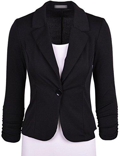 Men's Classic Notched Collar Two Buttoned Denim Suit Fashion Gradient Washed Blue Blazer Jacket
