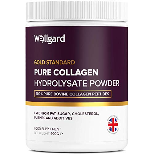 Collagen Powder, Gold Standard Bovine Collagen Peptides Powder by Wellgard - High Levels of The 8 Essential Amino Acids, Collagen Supplement, Halal & Kosher, Made in UK