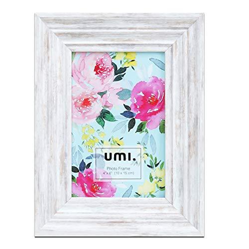 Amazon Brand-Umi Marco de Fotos clásico Simple 4X6 (10X15cm) Marco de Fotos, decoración de Pared y exhibición de Mesa(Beige)