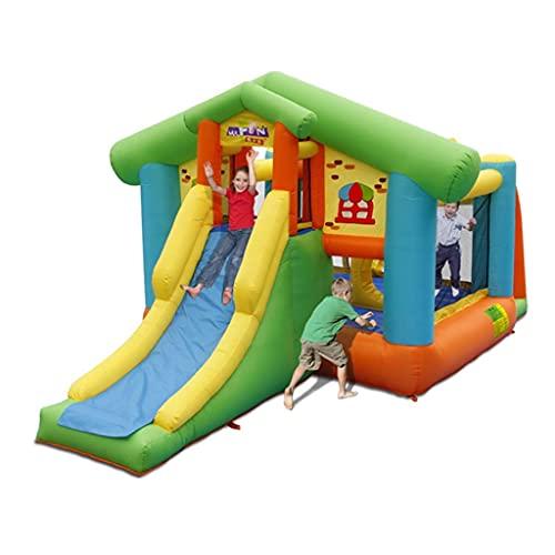 Casa De Rebote Inflable para Niños con Castillo Hinchable, para Niños con Foso De Bolas Y Tobogán, Tobogán para Niños Al Aire Libre Parque Infantil Grande, Interior Y Exterior