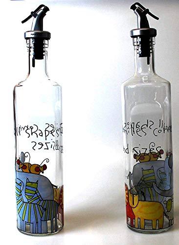 Aminno - Dispensador de aceite y vinagre – 500 ml de botella de ...