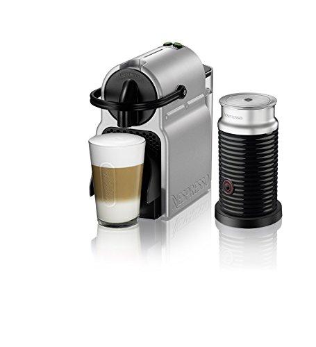 Nespresso Inissia Original Espresso Machine with Aeroccino Milk Frother Bundle by De