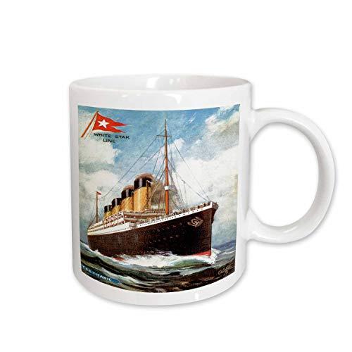 Mensuk Vintage White Star Line S.S. Titanic Ceramic Mug, 11-Ounce