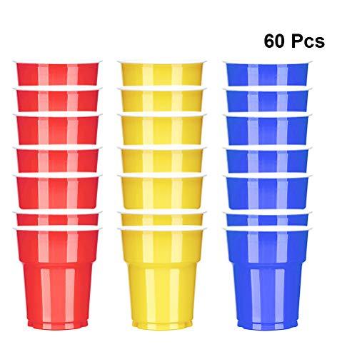 Amosfun 60 stücke 250 ml Einwegbecher Kaltes Heißes Getränk Saft Tassen Party Supplies