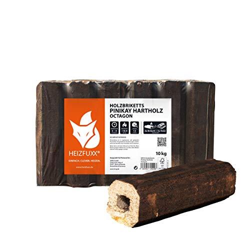 PALIGO Holzbriketts PiniKay Hartholz Eiche Kamin Ofen Brenn Holz Heiz Brikett 10kg x 3 Gebinde 30kg / 1 Karton Heizfuxx