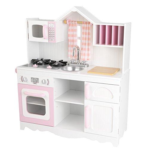 KidKraft 53222 Moderne Country Spielküche, Rosa und Weiß - 3