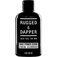 Rugged & Dapper Men Daily Face Wash and Scrub Cleanser, 8 ounces
