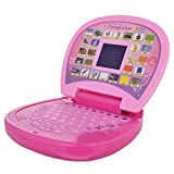 Fiddlys Educational Kids Laptop, LED Display, with Music, Pink Colour