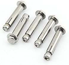 Yasorn 5-pack Stainless Steel External Hex Expansion Bolt M8x60mm