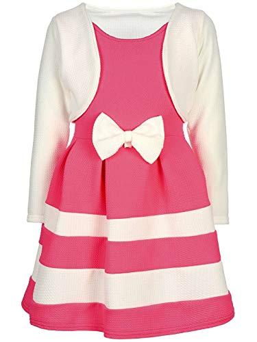 BEZLIT Mädchen-Kleid Kinder-Kleider Spitze Winter-Kleid Fest-Kleid Lang-Arm Kostüm 30003 Weiß-Rosa 98