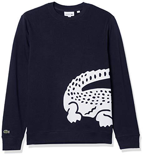 Lacoste Sudadera Grande de Cuello Redondo de cocodrilo para Hombre, Azul Marino, XXXX-Large