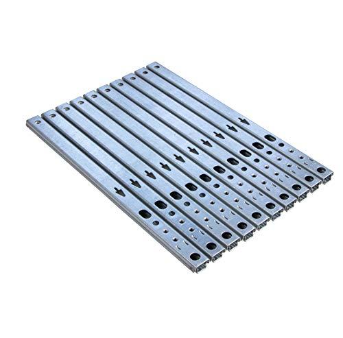 Gedotec Schubladen-Schiene Teilauszug 17 mm Teleskopschiene Küche Kugelauszug für Möbel   Stahl verzinkt   Auszugsschiene kugelgelagert   Tragkraft 12 kg   Länge: 246 mm   10 Stück - Schrank-Auszüge
