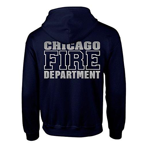 Chicago Fire Dept. - Sweatjacke (Silver Edition) (L)