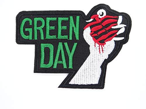 CRW Punk Rock and Roll Heavy Metal Band Green Day Patch – bestickter Aufnäher – Band zum Aufnähen – geeignet für Jacken, Rucksäcke und Jeans, Hut