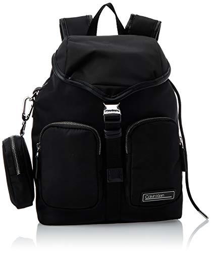 Calvin Klein Damen Primary Backpack Umhängetasche, Schwarz (Black), 1x1x1 cm