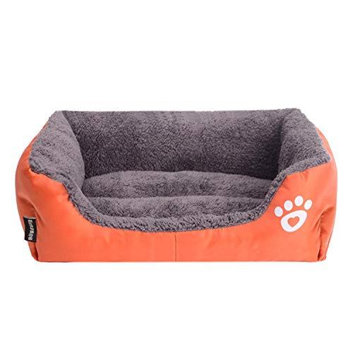 KJHY - Cesta para perros lavable con cremallera y funda ortopédica para perros medianos y grandes, con parte inferior antideslizante para camas para mascotas, cojín XXXL naranja
