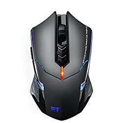 VicTsing Gaming Maus, 2,4 GHz Funkmaus mit leise Klicken, 2400 DPI Computermaus, 7 Tasten usb maus,ergonomische Maus, lange Lebensdauer Wireless Mouse für PC Laptop iMac Mac Book, Office, Home VicTsing Gaming Maus, 2,4 GHz Funkmaus mit leise Klicken, 2400 DPI Computermaus, 7 Tasten usb maus,ergonomische Maus, lange Lebensdauer Wireless Mouse für PC Laptop iMac Mac Book, Office, Home