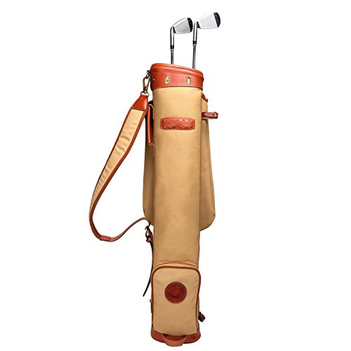 Tourbon Bolsa de transporte impermeable de lona para práctica de campos de golf, bolsa de viaje con suave correa acolchada para el hombro (bolsa de golf TB903CA)